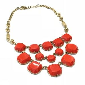 Stella & Dot Coral/Orange Olivia Bib Necklace
